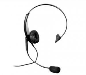 Lightweight headset with boom mic and inline PTT